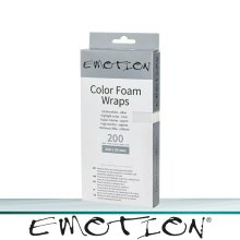 Emotion Color Foam Wraps kurz silber