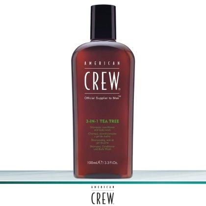 American Crew 3-in-1 Tea Tree Shampoo 100 ml